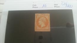 LOT 219257 TIMBRE DE FRANCE NEUF(*) N�16 VALEUR 1100 EUROS