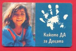 H110 / MOBIKA - UNICEF - SAY YES FOR CHILDREN Phonecards Télécartes Telefonkarten Bulgaria Bulgarie Bulgarien Bulgarije - Bulgarije