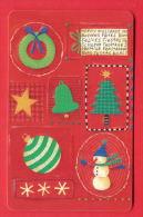 H120 / MOBIKA - UNICEF - HAPPY HOLIDAYS , Snowman , TREE , BELL Phonecards Télécartes Telefonkarten Bulgaria Bulgarie - Kerstmis