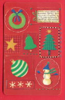 H121 / MOBIKA - UNICEF - HAPPY HOLIDAYS , Snowman , TREE , BELL Phonecards Télécartes Telefonkarten Bulgaria Bulgarie - Kerstmis