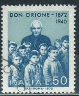 Italia 1972 Usato - Don Orione £ 50 - 6. 1946-.. Repubblica