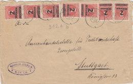 INFLA  7x 312 Ab MeF Geprüft, Auf Brief Der Fa. Wunnerlich, Schmid & Co., Mit Stempel: Hof Sa. ?.OKT 1923 - Infla