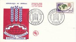 DFAO-224 FDC - FREEDOM FROM HUNGER 1963 FAO - SENEGAL - Senegal (1960-...)