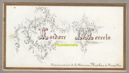 CARTE DE VISITE ENPORCELAINE +/- 1850  ** OUD VISITEKAARTJE IN PORCELEIN  ** ISIDORE MOREELS MAISON NICOLAS BRUXELLES - Cartes De Visite
