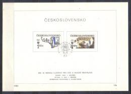 Czechoslovakia FIRST DAY SHEET Mi 2723-2726 Bienale , Children Books Illustrations    1983 - Tsjechoslowakije