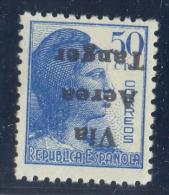 TANGER Nº 136HI. SOBRECARGA INVERTIDA. SIN CHARNELA. - Marruecos Español