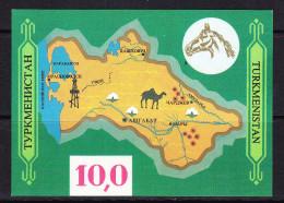 TKM-07TURKMENISTAN – MAP - Horses