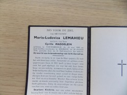 Doodsprentje Maria Ludovica Lemahieu Voormezele 28/5/1882 Brielen 20/10/1956 ( Cyrille Maddelein ) - Religione & Esoterismo