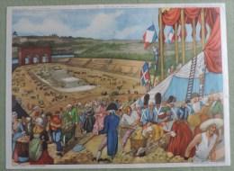 Affiche Scolaire Collection Rossingol - Montmorillon ( Vienne ) - N�49 Fete de la F�d�ration N�50 La Fuite du roi a
