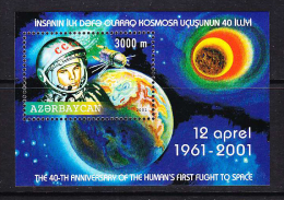 AZE-37    AZERBAIJAN 2001 THE 40-TH ANNIVERSARY OF THE HUMAN'S FIRST FLIGHT TO SPACE