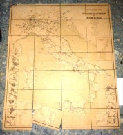 Carta Delle Ferrovie E Delle Linee Di Navigazione Del Regno D'Italia 1884 - Mappe