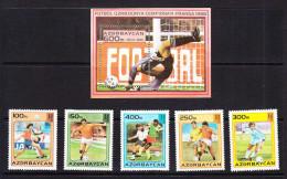 AZE-30    AZERBAIJAN 1995 FOOTBALL WORLD CUP FRANCE 1998