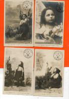 Serie De 10 Cpa - JEANNE D'ARC , Née à Domrémy En 1409 (compiègne , Chinon, Rouen ) Papier Guilleminot (militaire ) - Personnages
