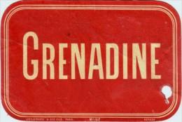 Etiquette  Ancienne De Grenadine - Imprimeur Vieillemard - 1880 - Fruits & Vegetables