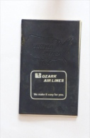 Ozark Air Lines Pocket Road Atlas Anni 60 (?) - Altri