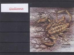 Tanzania 1994 - Foglietto Used Arachnios - Crustáceos