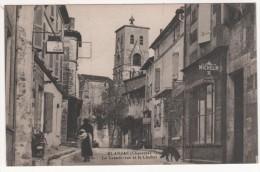 BLANZAC  -  LA GRANDE RUE ET LE CLOCHER - Postcards