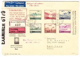 Express R-Luftpost 3.VI.1941 Bern Nach New-York Zensur - Poste Aérienne