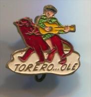 BULLFIGHT - Corida, Spain, Vintage Pin, Badge - Bullfight - Corrida