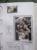 Guinee Mxc 1991 And Mint Stamp On Album Sheet Maximum Card Olympic Games Helsinki 1952 Maraton Athletics Emil Zatopek - Zomer 1952: Helsinki