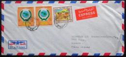 Kuwait letter to Denmark K�benhavn 31-1 Virum 1-2-1988 AIR MAIL ( lot 3905 )
