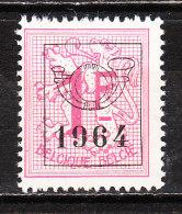 PRE757**  Chiffre Sur Lion Héraldique - 1964 - Bonne Valeur - MNH** - LOOK!!!! - Préoblitérés