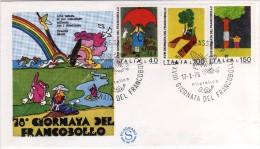 Italia 1976 annullo FDC Massa XVIII Giornata del Francobollo FDC Filagrano