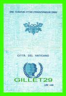 VATICAN - CITTA DEL VATICANO - CARTOLINA MANICA - ANNO INTERNAZIONALE DELLA GIOVENTU - 1985 - - Vatican