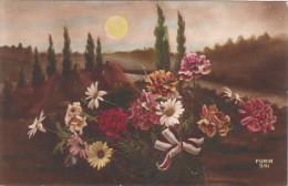 Carte Postale Ancienne Fantaisie - Bouquet De Fleurs Patriotique - Fantaisies