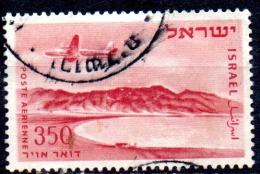 ISRAEL 1953 Air. Bay Of Elat  - 350pr. - Red And Pink FU - Airmail