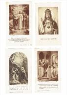 4 Images Religieuses - Supplément à La Charité - 1934 - 1935 - 1936 - Imprimerie COPPIN - GOISSE , ATH     (3648) - Religione & Esoterismo