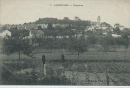 95 Val D´Oise, LUZARCHES, Panorama, Personnages, Scan Recto-Verso - Luzarches