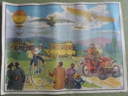 Affiche Scolaire Maison des Instituteurs - St Germain en Laye (S. et O.) - N�11,12 Histoire de L�automobile L�aviation