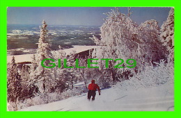 MONT-TREMBLANT, QUÉBEC - PUB BY FRANK SCOFIELD  - IN WINTER,  SKIING IN POWDER SNOW IN WINTER - - Quebec