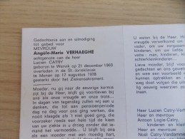 Doodsprentje Angèle Marie Verhaeghe Wervik 21/12/1903 Menen 17/8/1978 ( Lucien Catry ) - Religione & Esoterismo