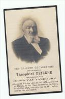 Doodsprentje Theophiel DRIEGHE Wed. Mathilda Van Zandijcke Eecloo 1838 Ukkel 1925 (foto) - Andachtsbilder