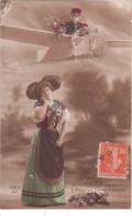 Carte Postale Ancienne Fantaisie Patriotique - Folklore Alsacien - Folklore