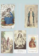 5 Images Religieuses -  1935 - François D'Assisse - Jésus - Marie - 1 Papier Dentelle -           (3654) - Devotieprenten