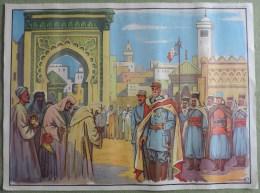 Affiche Scolaire Maison des Instituteurs St Germain en Laye (S et O)- N�17,18 Signature du Trait� Conquete du Maroc