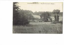 94 - VILLECRESNES - Vue Prise De La Route De Mandres - Attelage Cheval - Joinville Le Pont