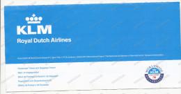 KLM Royal Dutch Air Lines Airwaya Passenger Ticket Used