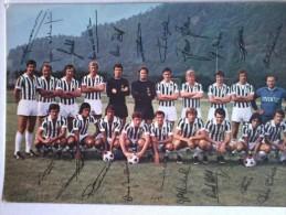 Cartolina- Juventus  Con Le Firme Dei Giocatori - Leggete Hurrà Juventus - Calcio