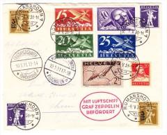 Zeppelin Brief 9.V.1931 Romanhorn Nach Thun Via Friedrichshafen - Poste Aérienne
