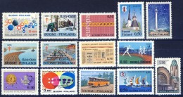 ##G965. Finland 1971. Year Set. (14 Items). MNH(**) - Finland
