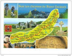Sur Les Chemins De St Jacques De La Loire à L'Aveyron.Le Puy Aumont-Aubrac, Estaing, Conques, Figeac. - Lieux Saints