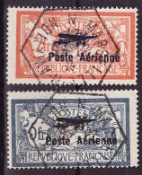 1927  N� 1 et 2   la paire des surcharg�s - obl. centrale RRR du cachet officiel du Salon