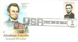 US Presidents  -  Abraham Lincoln  -  Seizième  President  -  1er Jour  -  FDC - George Washington