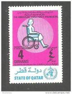 USED STAMP QATAR WORLD HEALTH ORGANIZATION - Santé