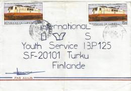 Guinee Guinea 1996 Conakry German Train Railways Swiss Loc Cover - Guinee (1958-...)