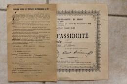 Société D'Enseignement Professionnel Du Rhône, Mention D'assiduité En Cours De Comptabilité. Année 1920/21. - Diplômes & Bulletins Scolaires